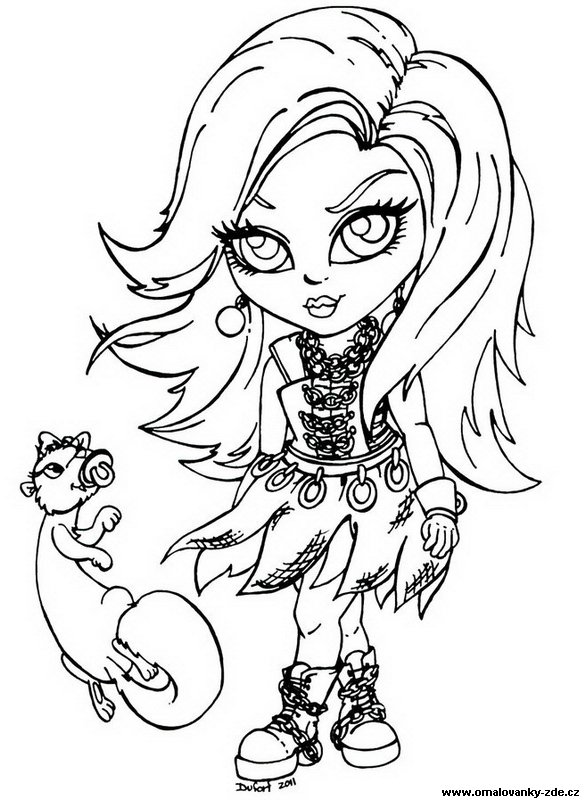 Mh omalov nky monster high - Coloriage monster high baby ...